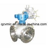 O aço inoxidável tripartido 3-Way elétrico ou o aço de molde flangearam a válvula de esfera Q944f Q945f