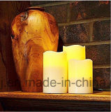 Lumière de clignotement de thé DEL de la bougie sans flammes DEL de Bluetooth fabriquée à partir de le solide de paraffine réel