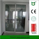 Дверь сползая стекла австралийского типа алюминиевая горизонтальная с сеткой