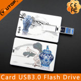 Memória Flash feita sob encomenda do cartão de crédito USB3.0 do logotipo (YT-3101-3.0)