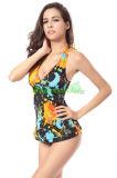 Heißes gedrucktes einteiliges Swimwears für Damen