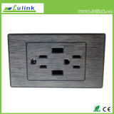 Universal Standard Double USB Wall Socket, Switch de parede, Outlet