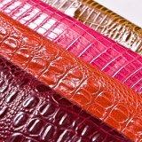 Crocodilo excelente couro de sapatas gravado do plutônio