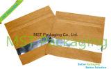 지퍼 종이 봉지 또는 명확한 Windows 편평한 Bag/3 옆 물개 부대