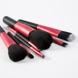 7PCS Poils d'un animal Mode Rouge et Noir Cosmetic Maquillage Brush