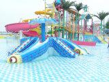 Diapositiva de agua al aire libre de la piscina del patio de los niños