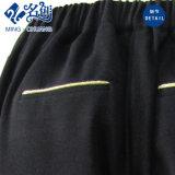 Pantalones largos del botón de los Trasero-Bolsillos de la manera negra de las señoras