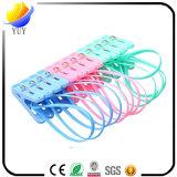 6658 de múltiples funciones colgar hacia fuera con los clips fijados cuerda del paño de los plásticos