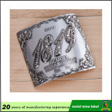Les diverses couleurs de bonne qualité de forme ont personnalisé l'étiquette en aluminium en métal