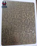 Feuilles décoratives de cuivre en bronze antiques de couleur de plaques d'acier inoxydable de Claded