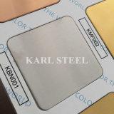 L'acier inoxydable 201 a repéré la feuille pour des matériaux de décoration