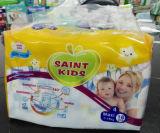 Algodão Backsheet com fita mágica e o tecido descartável branco macio super absorvente super de Topsheet e respirável do bebê