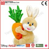 Projeto bonito o coelho enchido do brinquedo do luxuoso do coelho carreg a cenoura