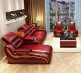 Sofá europeu do couro genuíno da sala de visitas do estilo (HX-SN066)