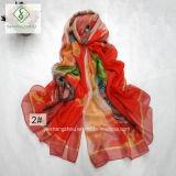 Signora Fashion Silk Scarf dello scialle della spiaggia stampata grande Fowler