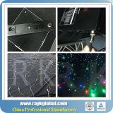 Cortina blanca y negra de la estrella de la luz LED del paño del fondo del concierto