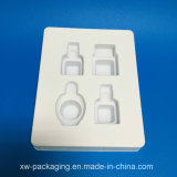Plateau en plastique blanc de vente chaude pour l'empaquetage cosmétique d'ampoule