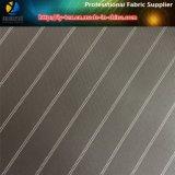 衣服のライニング(S14.24)のための黒いポリエステルヤーンの染められた縞ファブリック