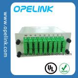 Pon/LAN/FTTX를 위한 Gpon 원거리 통신 1X16 PLC 쪼개는 도구 Lgx 상자