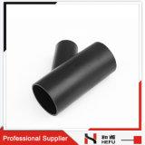 Té Transversal Noir en Plastique de L'ajustage de Précision de Pipe SDR26 du PE 100 Dn75