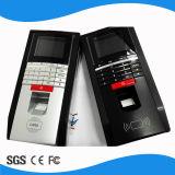 Biometrische Fingerabdruck-Zugriffssteuerung u. Zeit-Zeiterfassungsstation