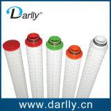 Cartouche filtrante plissée par essence de micron de pp