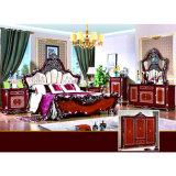 Antike Schlafzimmer-Möbel mit klassischem Bett für Hauptmöbel (W809)
