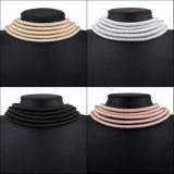 Веревочки слоя металла способа ювелирные изделия ожерелья чокеровщика конструктора Multi Braided