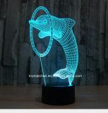 Nieuwe Kleurrijke 3D LEIDENE van de Dolfijn de Lichten/de Lampen van de Nacht