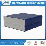 Caixa de empacotamento do presente azul do cartão para a inserção da almofada de Jewellry do relógio