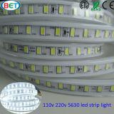 120V 110V 5630 más tira de la decoración LED del hogar del brillo