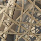 Goed het Poeder die van het Bewijs Furnir de Lange het Ontspannen Longvity Hangende Stoel van de Peul van de Rotan met een laag bedekken met Kussen