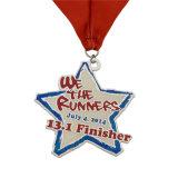 Medalha Running da maratona da estação de acabamento do esmalte 10k