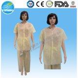 Disposabel PP / material no tejido / SMS / no tejido / Vestido de no tejidos de pacientes sin balón