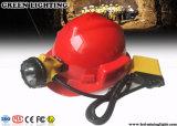 25000lux耐圧防爆束ねられた地下の炭鉱作業員の帽子ランプ