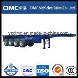 Cimc 3개의 차축 40FT 거위 목 모양의 관 해골 포좌 트레일러