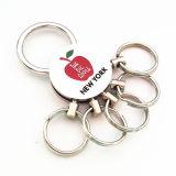 Metallo super Keychain (F1107) dell'anello portachiavi degli S.U.A. del regalo del ricordo di New York