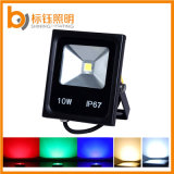 RGB Color 10W IP67 Alumínio Outdoor Park LED Floodlight