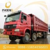 Uso excelente usado de la condición de las ruedas 371HP 40tons del carro de vaciado del precio bajo HOWO 12 para África