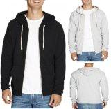 Шлямбур застежка-молнии хлопка пуловера втулки оптового изготовленный на заказ Mens длинний (A487)
