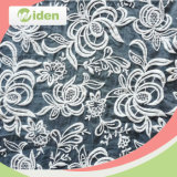 Tecido de rendas de organza cinza ecológico para o vestido de noiva