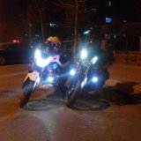 30W U7のヘッドライトのハイ・ロービーム1500lm 6500k 5カラー天使カラープロジェクトレンズのオートバイのヘッドライト