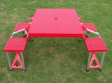 플라스틱 의자를 가진 옥외 접히는 픽크닉 테이블