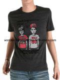 Les hommes refroidissent le T-shirt de coutume de coton d'été imprimé par écran de conception de mode