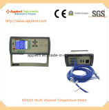 1000 정도 온도계 전시 24 채널 통신로 온도 (AT4524)
