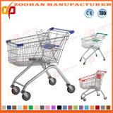 Chariot en plastique à achats de supermarché de bonne qualité (ZHt271)