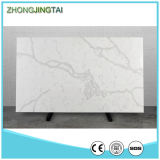 큰 Slab Stone Form 및 White Color Calacatta Gold Quartz Slab
