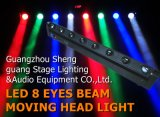 8PCS * 10W White LED Feixe Moving Head Light