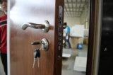 Puerta exterior del diseñador de la teca de la entrada de la seguridad del metal de la entrada de acero de madera del hierro