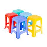 Stapelbarer haltbarer hoher quadratischer Plastikschemel für Haushalts-Freizeit-Stuhl